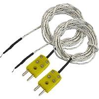 Sourcingmap a12081700ux0326 - 2pezzi -50-200c terminale tipo k del sensore di temperatura della sonda a termocoppia forchetta