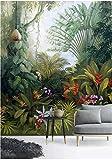 papier peint panoramique tapisserie murales stickers muraux Salon papier peint poster Plante fleurie arbre forêt tropicale 3d papier peint jungle