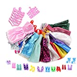 Clothing Accessories Best Deals - ASIV 12 Dresses, 12 Paris of Shoes & 12 Hangers Accessories for Barbie Gifts for Kid (36 Pieces)