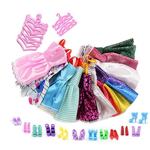 asivr-12-vetements-et-12-chaussures-et-12-cintres-pour-poupee-barbie-36pcs
