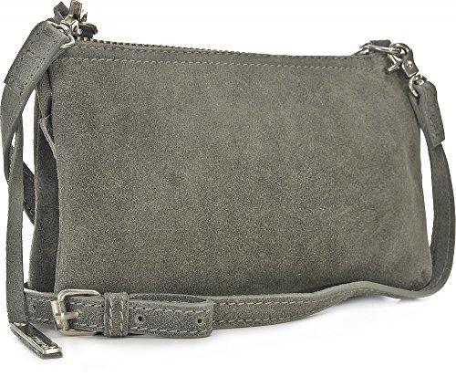 Tyoulip Sisters Cosmic sac à bandoulière en cuir petites dames (20 x 13,5 x 2 cm) Grau