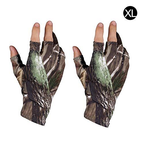 TODAYTOP Heute 1 para Frühling Sommer Angeln Jagdhandschuhe Camouflage Gel Fingerlose Handschuhe Atmungsaktiv rutschfeste wasserdichte Handschuhe Outdoor Reithandschuhe für Männer Frauen