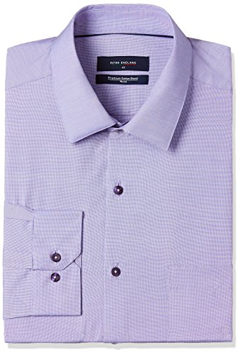 Peter England Men's Formal Shirt (8907696054671_PSF51704298_36_Mediumpurplewithwhite)