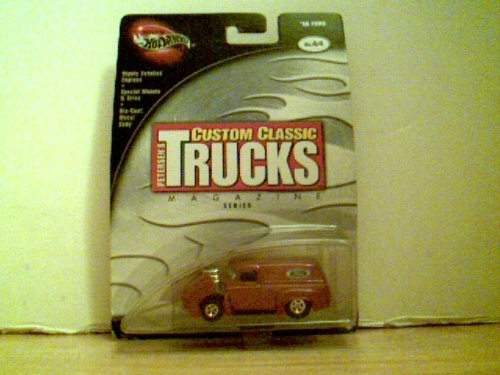 Petersen's Custom Classic Trucks Magazine (Die Cast) Maroon Van - '56 Ford by Hot Wheels