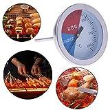 Yiwann - Termómetro de cocina para horno, barbacoa de 300 grados, termómetro para ahumar, medidor de temperatura, herramienta de campamento al aire libre