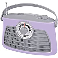 Trevi RA 763V Portable Analogue Portable Radio–Grey, Cream, Mobile (Portable, Analog, AM, FM Radio, 3.5mm, 210mm, 80mm)