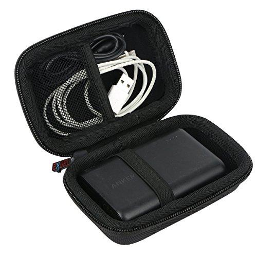 khanka Portable Etui de Voyage Housse pour Anker PowerCore 10000 Batterie Externe Petite et Légère 10000 mAh (Noir)