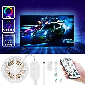 LED TV Hintergrundbeleuchtung, Govee 2M USB LED Fernseher Beleuchtung mit Fernbedienung, Selbstklebend Led Strip…