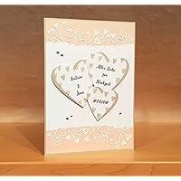 XL Karte DIN A5 Hochzeit handgemacht, personalisierbar