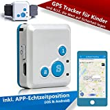CREATONE® MyGPS-1000 blau Mini GPS Tracker mit APP Echtzeitposition (iOS & Android), SMS-Tracking, Anruf-Funktion, GEO-Zaun für Kinder, ältere Menschen und ALLE, die Wert auf Sicherheit legen (Blau) …