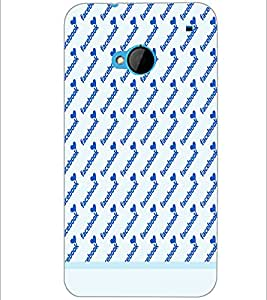 PrintDhaba Heart Pattern D-1491 Back Case Cover for HTC ONE M7 (Multi-Coloured)