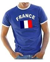 Coole-Fun Ringer Men's France T-Shirt