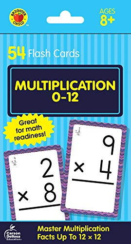 Multiplication 0 to 12 Flash Cards (Brighter Child Flash Cards)