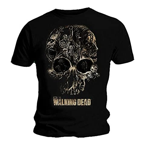 Official T Shirt THE WALKING DEAD Zombie SKULL Collage