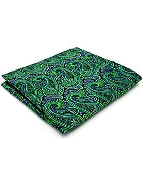Shlax&Wing Hombre La Moda Seda Pañuelo De Bolsillo Para Verde Cachemir 12.6