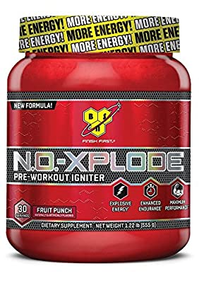 BSN N.O. Xplode 555 gr 30 Servings Fruit Punch - Pre-Workout Igniter - NEW FORMULA !!! (2014) by BSN