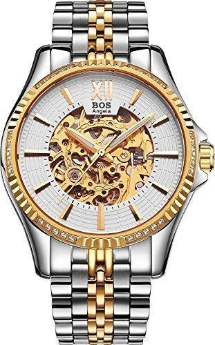 angela-bos-herren-armbanduhr-automatisch-mechanisch-skelettuhrgoldenes-gehause-weisses-zifferblatt-e