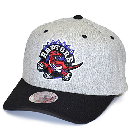 Toronto Raptors - Mitchell & Ness - Snapback Cap - NBA Basketball - Grau Schwarz - Herren Kappe (Synthetischen Nba Ball)