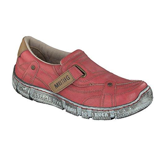 Mustang Damen Halbschuhe Rot, Schuhgröße:EUR 38