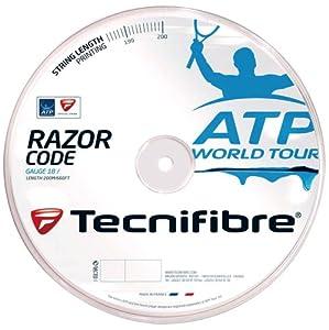 Tecnifibre ATP Razor Code Tennis String - 200m Reel, Color- Carbon, Gauge- 1.25mm Review 2018 by Technifibre