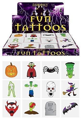 Henbrandt 144 x Spuk Halloween Vampir Kürbis Fledermäuse Kinder Rollen Übertragungen Tattoos