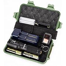 Tongshi G700 X 800 batería de linterna táctica de grado militar LED Zoom [Clase de eficiencia energética A+++]