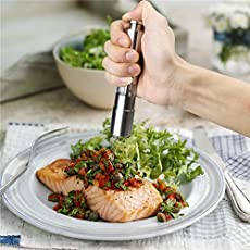 Getko with Device Stainless Steel Thumb Salt Pepper Mill Grinder Spice Set