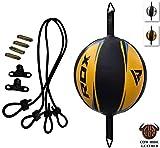 RDX Doppelter Endgeschwindigkeits-Ball Boxen Set Boxbirne Drehwirbel Speedball Punchingbälle (MEHRWEG)