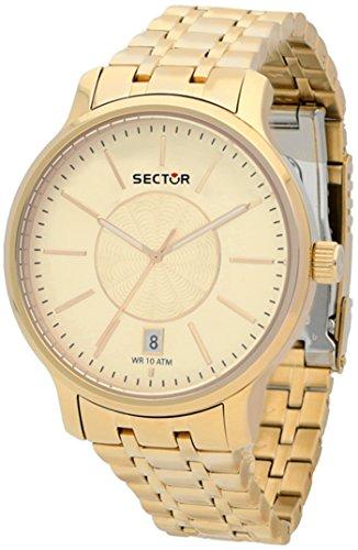Sector 125 Montre Femme Analogique Quartz avec Bracelet Acier Inoxydable plaqué Or R3253593501