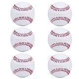niceEshop(TM) 6 Stück Schaum Baseball Bälle Reduzierte Schlag Sicherheit Softball für Kinder Teenager Spieler