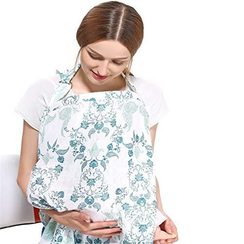 Couverture d'allaitement - Couverture d'allaitement pour Bébé Enfant en Bas Âge Maman Coton Tablier De Pis d'allaitement Châle