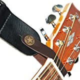 Leather Strap Hook for Acoustic Guitar (Brown)