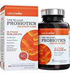 NatureWise Maximum Care Time-Release Probiotics: 30 Strains, 30 Billion CFU, Comparable to 450 Billion CFU with WiseBiotics Technology, Shelf Stable, Acid Resistant, 20 Caplets