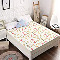 LYJZH Breathable Washable Quilted Cover Sheet Incontinence Bed Protector Washable Crib Mattress Sheets for Children Cotton knit waterproof bed cover 5 90 * 200cm