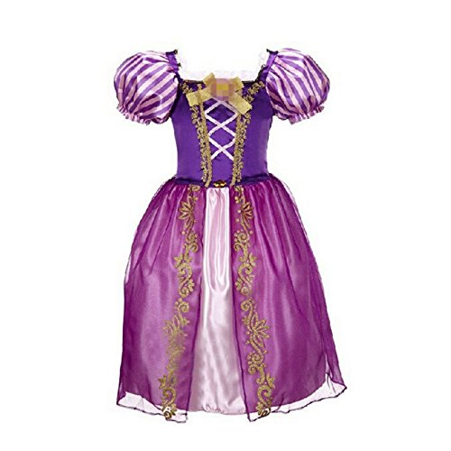 Beunique@ Neue Prinzessin Rapunzel Kleid Kostüm Prinzessin Karneval Verkleidung Party Kleid Cosplay Mädchen Halloween Kostüm