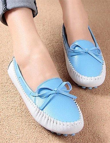 ShangYi Damenschuhe - Bootsschuhe - Lässig - Kunstleder - Flacher Absatz - Rundeschuh - Blau / Gelb / Grün / Rosa / Lila Blue