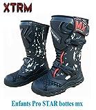 moto bottes enfants Xtrm PRO STAR quad mx le sport motocross hors bottes d'armure de route (EU 35)