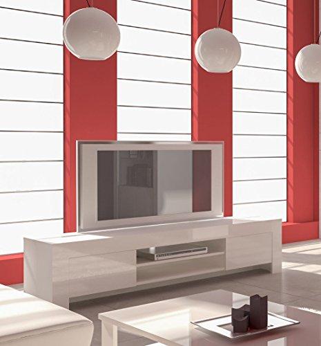 Mobile basso per soggiorno 2 Cassetti Bianco Laccato
