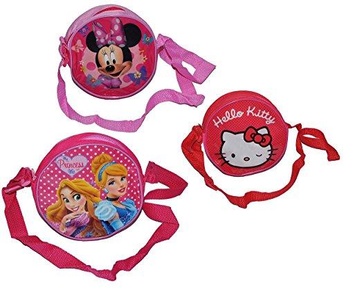 1 Stk. Umhängetasche / Schultertasche - Hello Kitty - Prinzessin - Minnie Mouse - für Kinder abwischbar - Kind Katze Blumen Mädchen Kindergartentasche Tragetasche Kindertasche (Handtasche Hello Kitty)