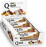Protein Riegel Low Carb Q-Bar - Whey Isolat Proteinriegel Von Supplify Zum Abnehmen Oder Muskelaufbau – Cinnamon Roll 12x 60g - ein echter power-bar als Proteinpulver und Eiweiß Shake Ersatz