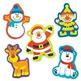 Gomme Amici Natalizi per Bambini, Giochi e Giocattoli per Bambini Piccoli per un Natale Perfetto (Confezione da 12)