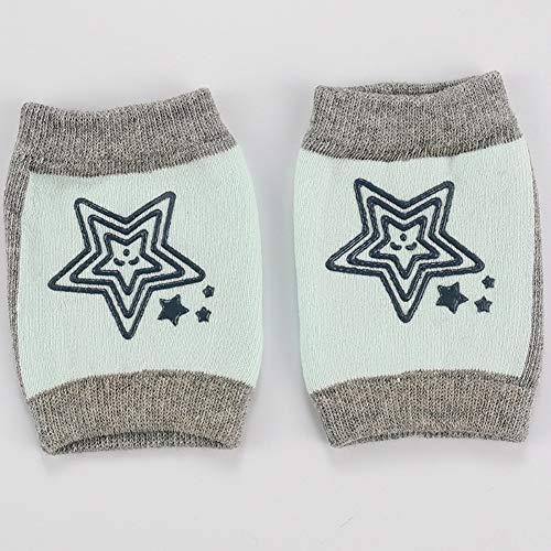 ZXYSHOP 6 Paar Baby Knieschoner Krabbelschoner Mit Gummipunkte Anti-Rutsch Knieschützer Für Junge Und Mädchen 0-2 Jahre,Flesh