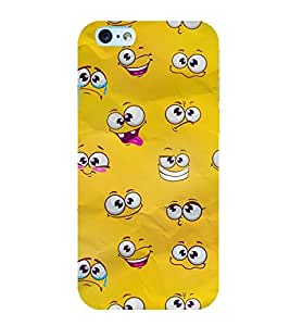 YELLOW CARTOON EYES PATTERN 3D Hard Polycarbonate Designer Back Case Cover for Apple iPhone 6SPlus