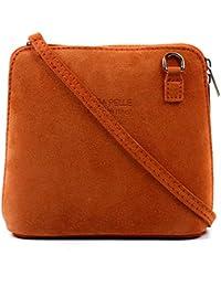 c402e75924 Craze London Women Mini Genuine Italian Leather Suede Cross Body Shoulder  Bag Strap Real Italian Designer