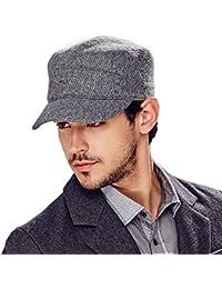 Kenmont automne hiver des hommes de laine couleur unie de golf visière cadets bouchon chapeau militaire