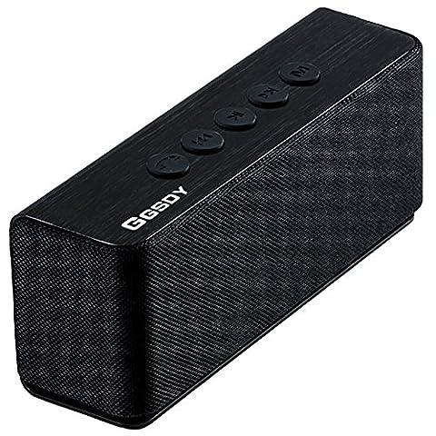 Hapyia Enceinte Portable Bluetooth avec haute définition qualité sonore, Port Micro SD, Haut-Parleur Sans Fil pour iPhone 7 Plus 6S 6S Plus SE, iPad, Samsung, Android