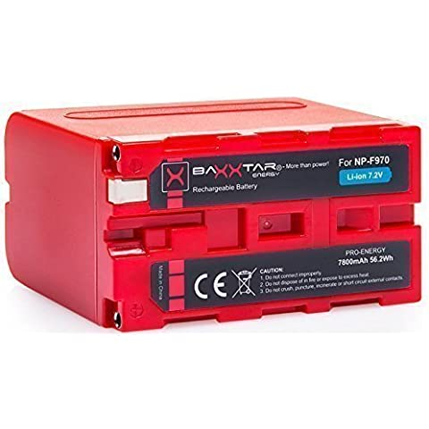 BAXXTAR PRO ENERGY batería para Sony NP-F970 (de 7800mAh)