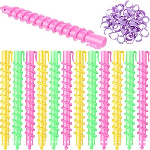 Dauerwelle mit spirallockenwickler