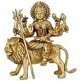 The Himalayan Collections HC- Astadhatu (8 Metals) Made Shri Durga Idol/Shri Ambe Maa Brass Idol/Shri Vaishno Devi Idol/Shera