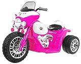 BSD Elektromotorrad für Kinder Elektrisch Ride On Kinderfahrzeug Elektroauto Motorrad - Chopper - Rosa